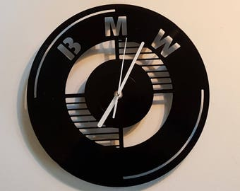 Vinyl Clock, luxury car, Christmas gift, Wall clock, vinyl record clock