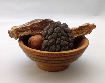 Small handmade salvaged wooden bowl