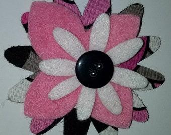 pink flower hair pin