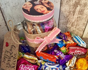 Chocolate Filled Personalised Mason Jar
