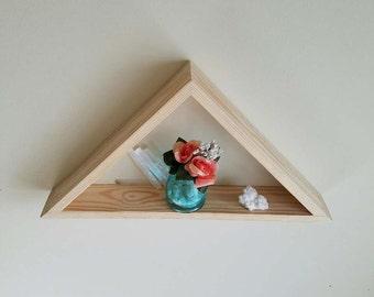 Wooden Handmade Triangle Shelf