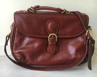 TALLITI Deep Burgundy Leather Top Handle /Shoulder Bag