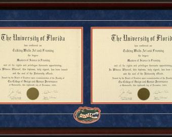University of Florida Double Diploma Frame