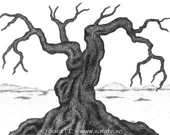 Vedermöda - ORIGINAL ink/liner drawing - dead tree