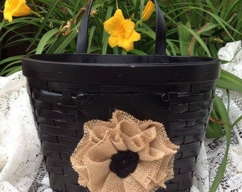 Black wall basket