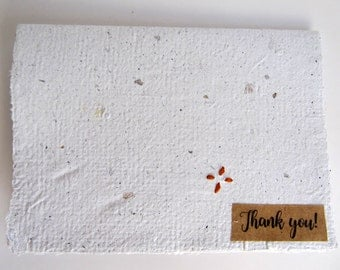 Handmade Paper Thank You Card Set / Thank You Notes with Envelopes / Thank You Note Cards / Unique Card Set / Homemade Thank You Cards