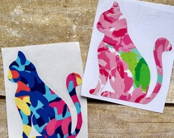 Cat decal / Cat sticker / Lilly cat decal / Lilly decals / yeti cup decals / laptop decal / vinyl sticker / decals for girls / vinyl decal