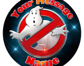 Ghostbusters logo Inspired Personalised Edible Icing Print Party Decoration Cake Topper 7.5""
