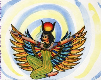 Fine art postcards A6 - original: Goddess Hathor