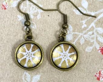 Gold Flower Earrings|Flower Earrings|Boho Chic|Boho Earrings|Spring Earrings|Spring Jewelry|Summer Jewelry|Summer Earrings|Gift for her|BFF
