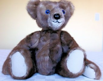 OOAK  Teddy Bear From Re-Purposed Vintage Persian Lamb Coat