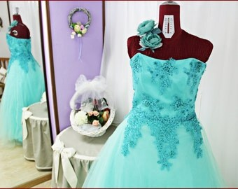 handmade embroidered tulle dress