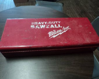 Vintage Milwaukee Saws All Case - Metal