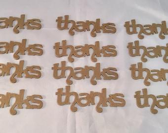 Sizzix Phrase Die Cuts * THANK YOU * Chipboard Set of Twelve *