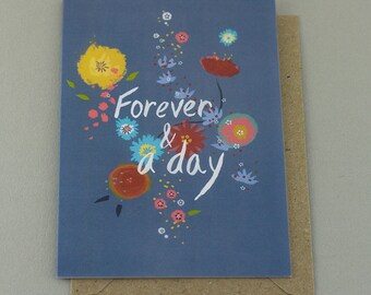 Forever and a Day Greetings Card - Blank Inside