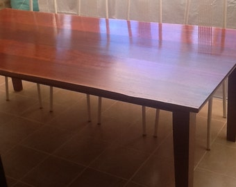 Solid natural edge jarrah dinning table