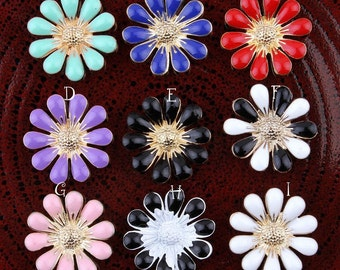 18MM Metal Decorative Rhinestone Buttons for Wedding Embellishment Flatback Rose Flower Buttons for Hair Accessories