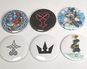 """Kingdom Hearts 2.25"""" Buttons"""