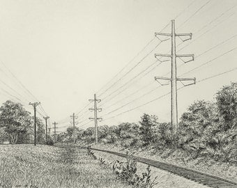 Powerlines and Railroad