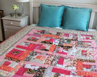 Handmade quilt, 100% cotton.