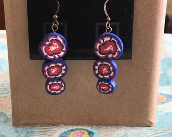 Firework dangle earrings