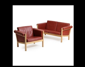 "Hans J. Wegner 2 seater sofa and easy chair - ""GE - 40"""