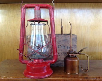 Vintage Dietz Monarch Lantern Red
