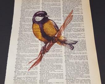 Vintage Dictionary Print - Bird