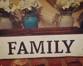 Primitive Farmhouse Rustic Wood FAMILY Sign