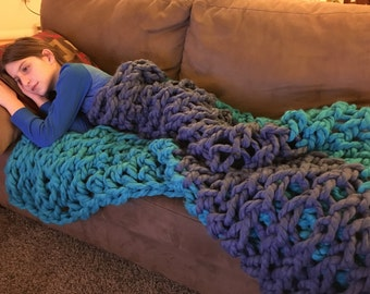Teal and Blue - Dana's Beloved Blanket