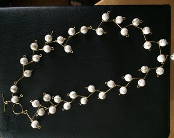 White marble necklace