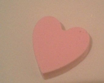 heart shaped rose scented soap