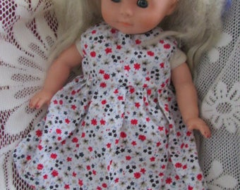 Dolls cotton dress and knickers.