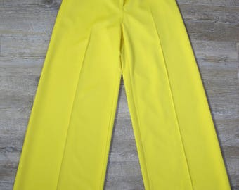 Vintage 60s 70s Louis Caring High Waisted Bell Bottom Palazzo Wide Leg Disco Street Pants