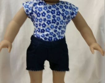 Cut Off Jean Shorts for 18 inch dolls