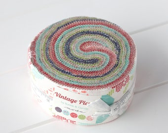 Vintage Picnic Jelly Roll by Bonnie & Camille, for Moda Fabrics