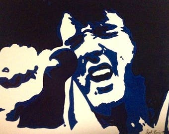 8 x 10 All Blue Pop Elvis