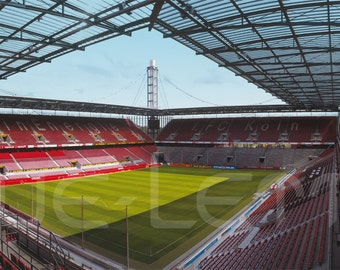 Cologne Stadium panorama - posters 120 x 50 cm - high-quality FineArtPrint