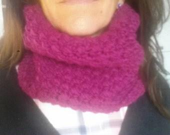 Crochet wool neck warmer