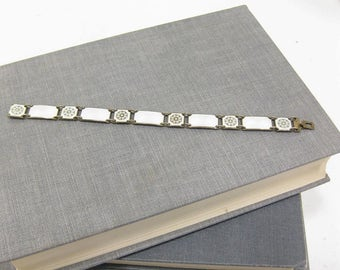 Vintage Sterling David Andersen Norway Enamel Bracelet