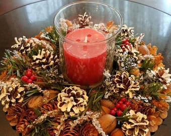 Winter candle holder