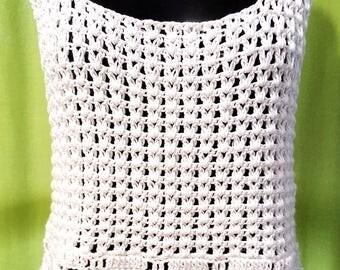 Handmade Crochet Tank Tee