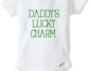 Daddy's Lucky Charm, Lucky Charm Onesie, Lucky Charm, St. Patrick's Day, St. Patty's Day, Baby Onesie