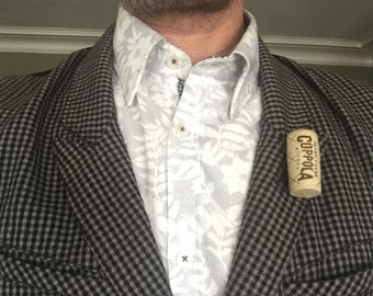 Wine Cork Lapel Pin