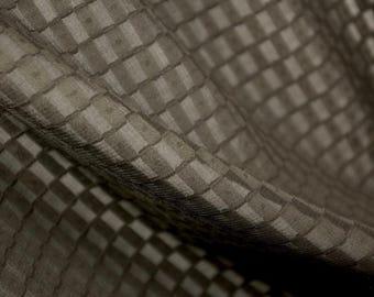 Woven Black Check Fabric