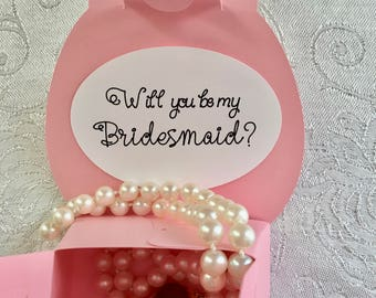 Will You Be My Bridesmaid?  Personalized Gift Box