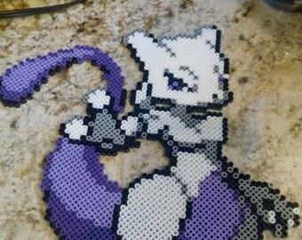 Mewtwo Perler Bead Art