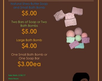 LARGE Bath Bombs