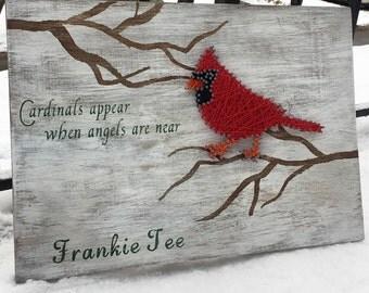 Cardinal String art