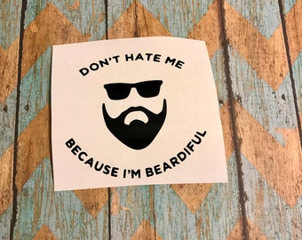 12x12 beard decal